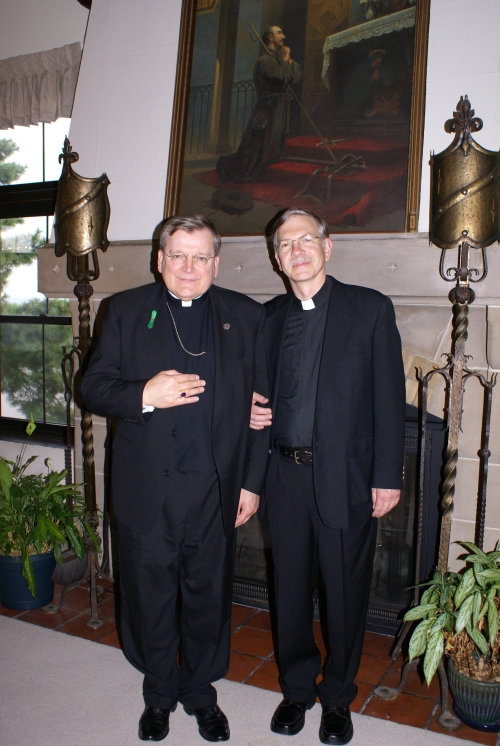 His Eminence and Father Van Hove