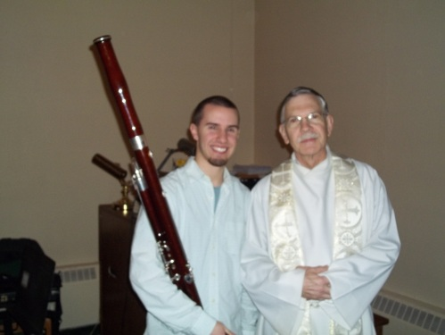 Matthew D. Williamsen, bassoon, and Father Van Hove