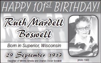 Ruth Mardell Boswell 1913--2000
